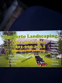 Rigoberto Landscaping business card Bailey's Crossroads, 22041