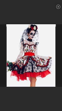Day of the Dead New! 2 piece Costume COSPLAY  Charles Town, 25414
