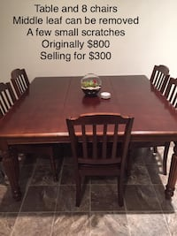 Large Dining Room Table- 8 Chairs