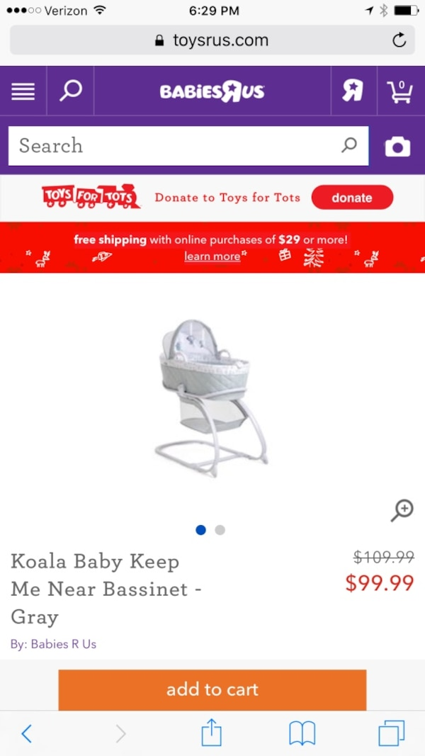 Used Koala Baby Bassinet Moses Basket Box For Sale In Watertown