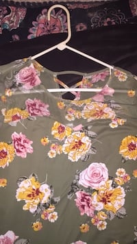 Floral and see through top