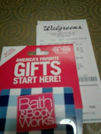 Bath and Body Works $25 Gift Card