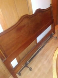 brown wooden bed headboard and footboard Mastic