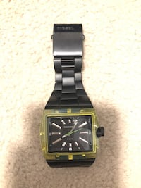 square black and green analog watch with link bracelet Winnipeg, R3T 2P8
