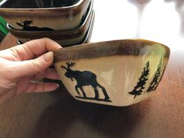 Moose Dishes and decorations