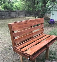 brown wooden bench with bench San Antonio, 78223