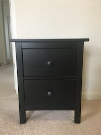 black wooden 2-drawer nightstand Bethesda, 20814