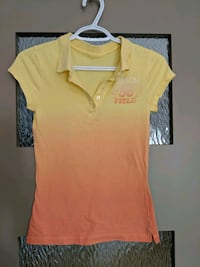 Women's yellow/orange top size small Calgary, T2E 0B4