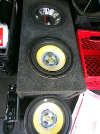 3 10 inch subs, box and Sony explode head unit Penns Grove, 08069