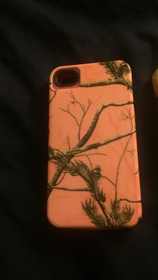 pink and brown tree camouflage iPhone cas e