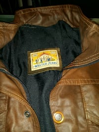brown Walter Jeans leather zip-up jacket