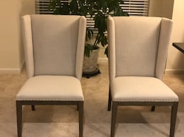 2 Brand New Custom Made Wing Back Chairs, $100 a piece