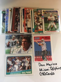 Dan Marino Pittsburgh Panthers Miami Dolphins Hall of Fame QB (18) Card Lot. Set 2 San Jose, 95148