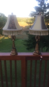 Two beautiful floral table lamps Orient, 43146
