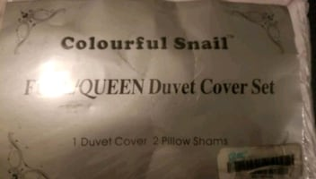 Full/Queen Duvet Cover Set by Colourful Snail