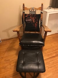 black and brown glider chair