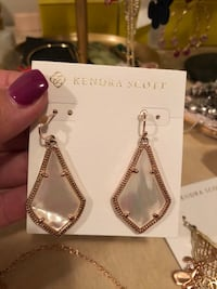 Kendra Scott rose gold with white pearl stone  Weslaco