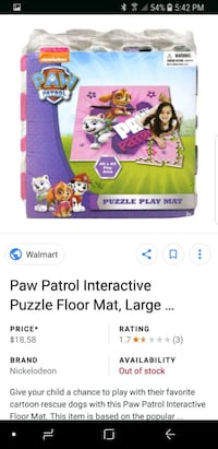 Paw patrol foam mat Reston, 20194