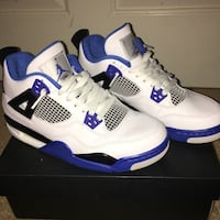 Pair of air jordan 4 motorsport Madera, 93637