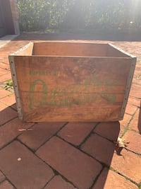 Used Vintage Fruit Crate W Metal Banding For Sale In