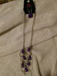 purple and gray pendant necklace Springfield, 22153