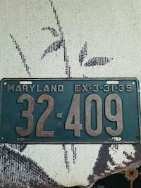 black and gray license plate Baltimore, 21207