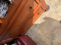 Solid wood TV armoire with 2 drawers, good condition. Contents not for sale. Hagerstown, 21740