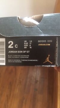 Black and pink air jordan #new infant size 2 Kenosha, 53144