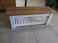 Farmhouse style storage bench. Miami