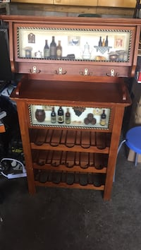 Classic wine display with shelving pick up only at location Vaughan, L4L 6P5
