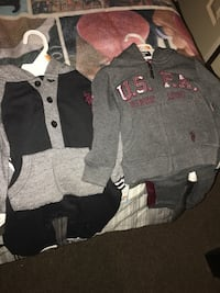 Brand new baby boy clothes 12/18 months 16 Outfits forgot some