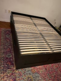 Queen storage bed from ikea