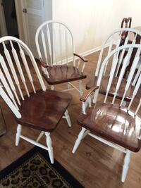 Table and chairs. Two are captains chairs. Used as a craft table a lot. Been wiped off so much that most of finish is off. Sturdy, great for a redo. $50. Located in Elizabethton, must be able to load and pick up. Elizabethton