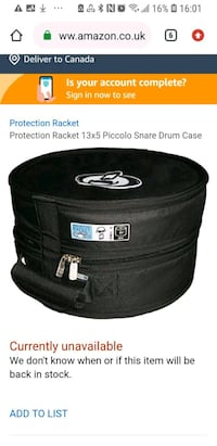 brand new drum case with tag