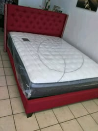 white and red floral mattress South Gate, 90280