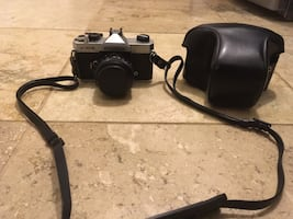 Vintage Fujica ST-605 with 55mm F2.2 lens and leather camera case