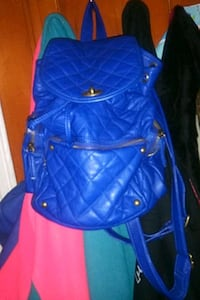 Small blue leather Arizona  backpack Pocket Book Baltimore, 21224