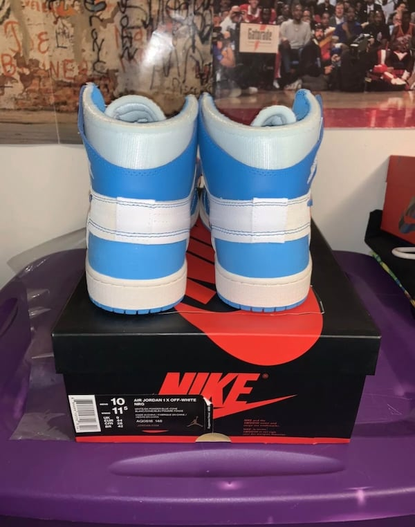 Air jordan 1 UNC off white size 10 2