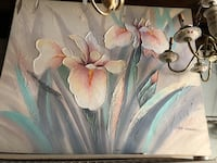"40x50"" 3D floral art on canvas signed as Abrams Toronto, M2R 3N1"