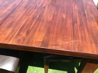 SOLID WOOD TABLE ONLY with adjustable leaf Los Angeles, 90016