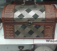 brown and black wooden chest box ETOBICOKE