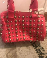 Pink purse with silver studs