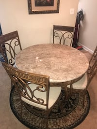 Dinner table.... Metal with stone Oxon Hill, 20745