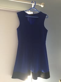 Sleeveless Blue Dress with Black Line Mississauga, L5B 4H5