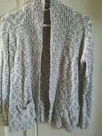 gray and white long-sleeved cardigan Albuquerque, 87108