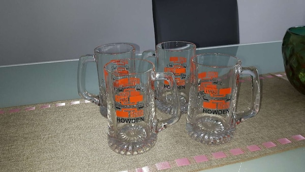 Set of 4 beer mugs. Good condition  c7bade8d-114f-4aaa-942f-efd73dbc7c63