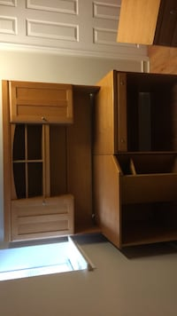 Large Wooden Desk with upper level cabinets  Taunton, 02780