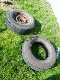 four gray auto wheel with tires Langley, V3A 3V5