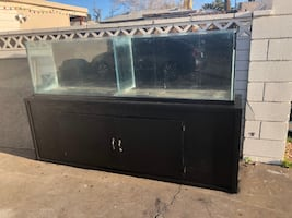 Double Fish Tank and Stand