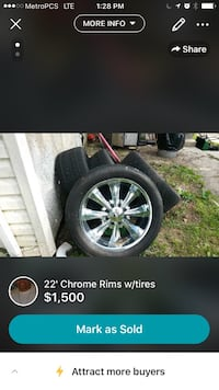 22' chrome rims with tires screenshot Baltimore, 21207